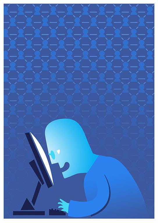 Inscrição nº                                         21                                      do Concurso para                                         Social media addict. Design single-panel illustration or cartoon symbolizing a social media addict (multiple winners possible).