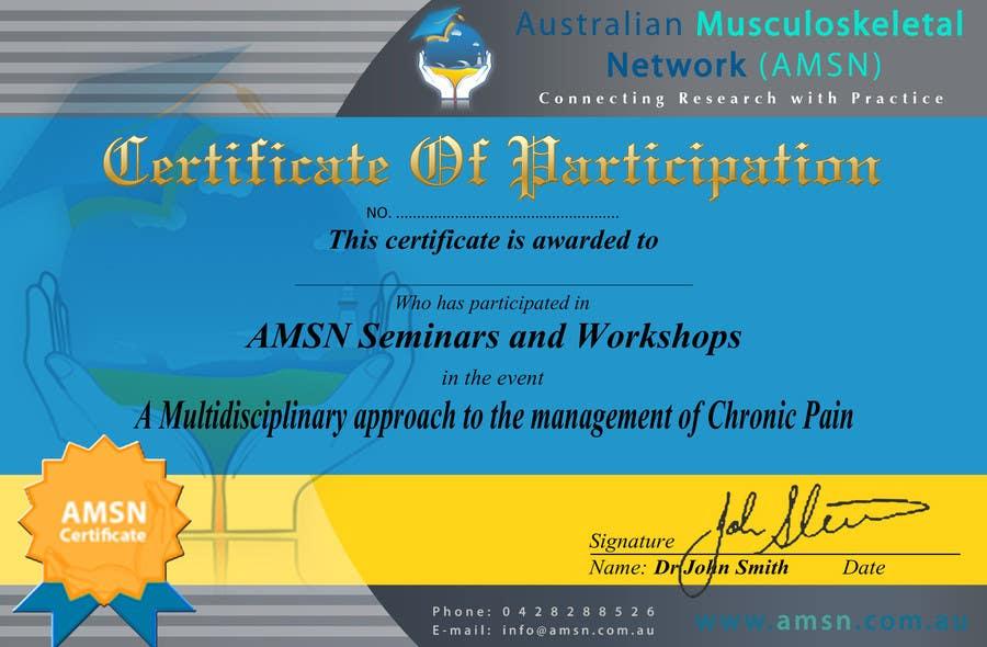Inscrição nº                                         1                                      do Concurso para                                         Certificate of attendance for our events