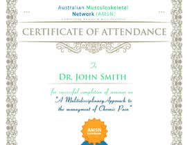 #19 para Certificate of attendance for our events por clementalwin