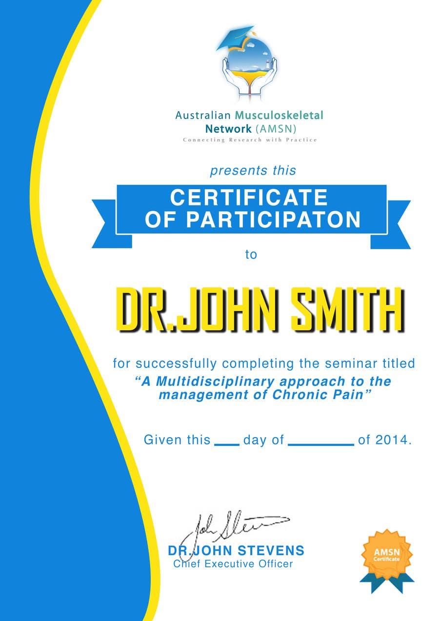 Inscrição nº                                         15                                      do Concurso para                                         Certificate of attendance for our events