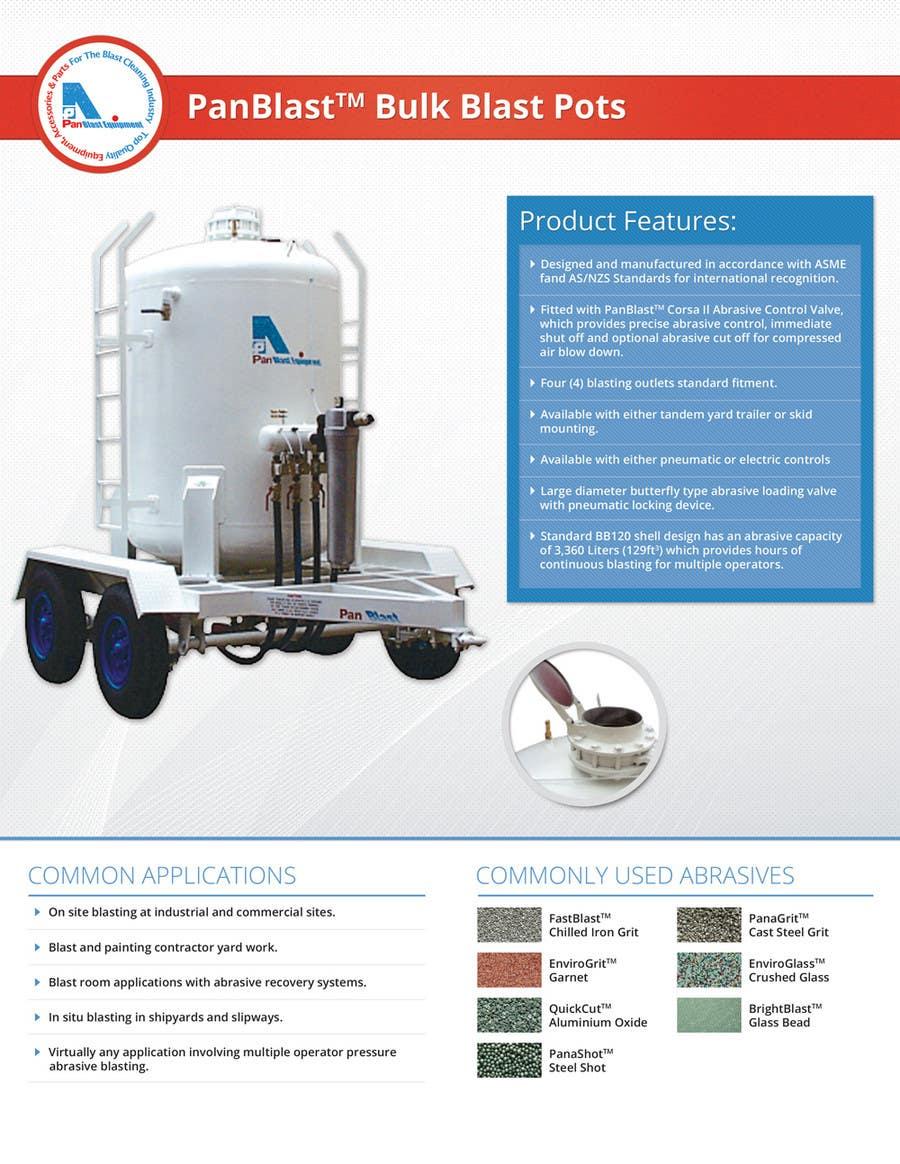 Inscrição nº 25 do Concurso para New Brochures - Graphic Design for Pan Abrasives