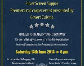 #3 para Design a Flyer for Silver Screen Supper por michaelsaizu