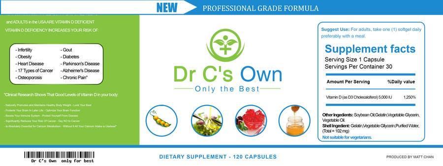 Konkurrenceindlæg #                                        14                                      for                                         Doctor C's Own Health Supplements Label Design Contest!