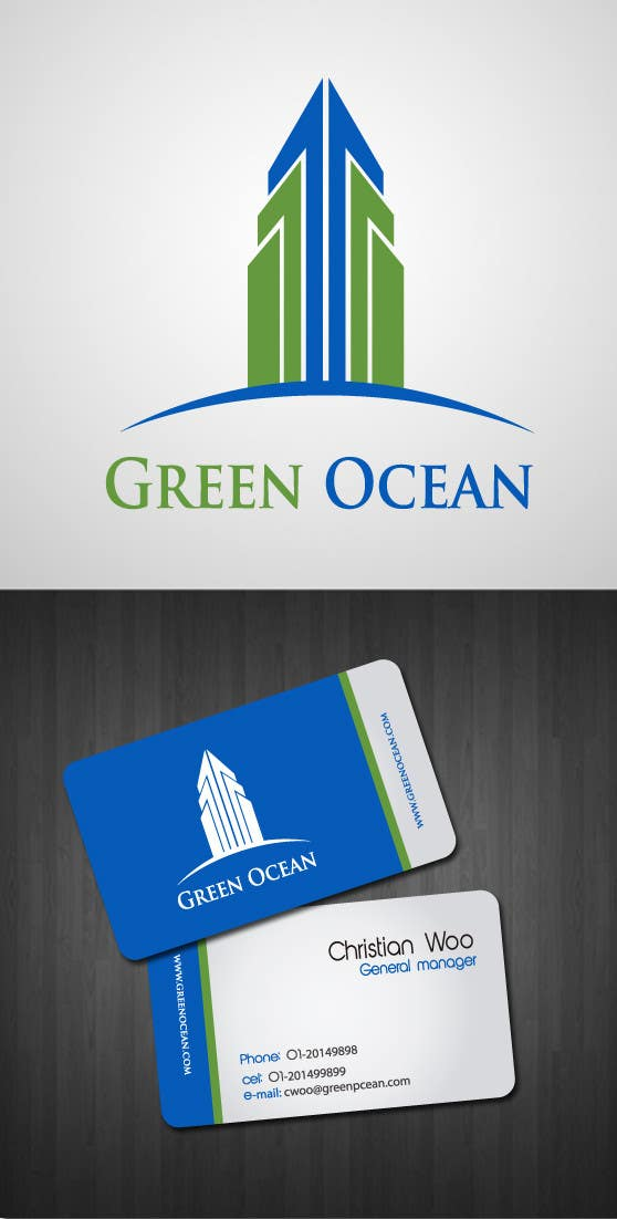 Penyertaan Peraduan #                                        441                                      untuk                                         Logo and Business Card Design for Green Ocean
