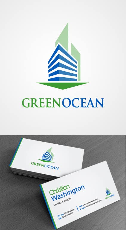 Penyertaan Peraduan #                                        697                                      untuk                                         Logo and Business Card Design for Green Ocean