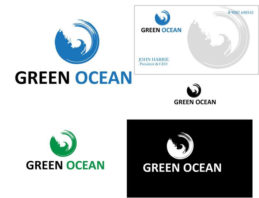 Penyertaan Peraduan #                                        733                                      untuk                                         Logo and Business Card Design for Green Ocean