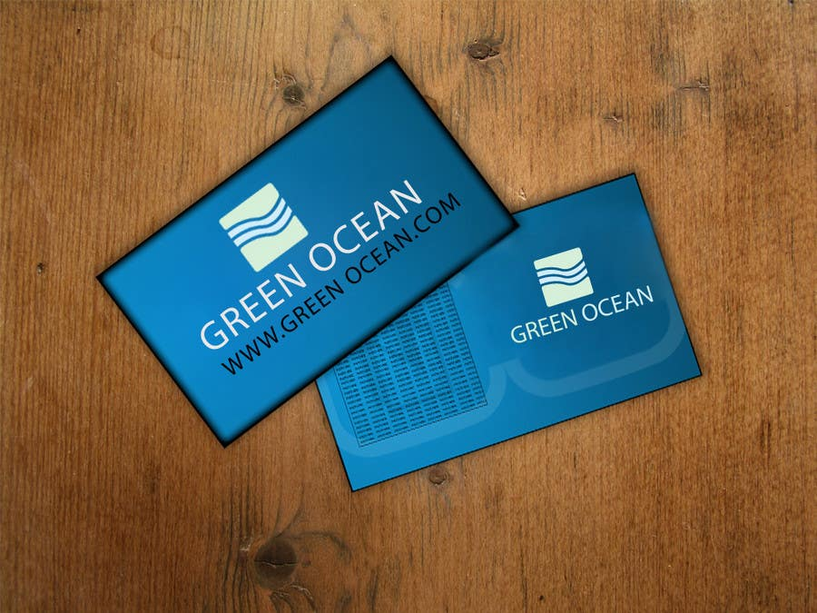 Penyertaan Peraduan #                                        706                                      untuk                                         Logo and Business Card Design for Green Ocean