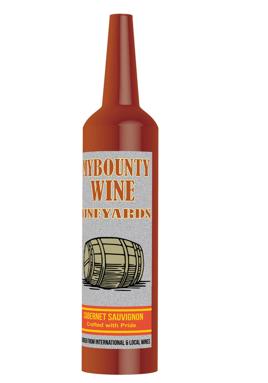 Kilpailutyö #                                        64                                      kilpailussa                                         Graphic Design for An online custom wine label company