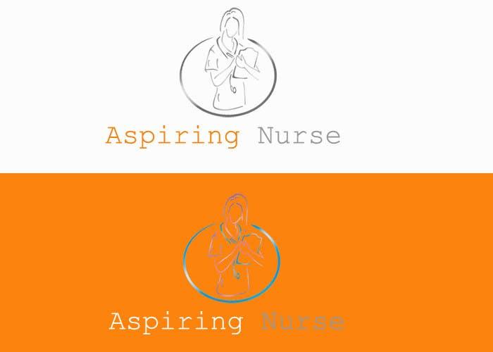 Kilpailutyö #                                        44                                      kilpailussa                                         Logo design for aspiring nurse