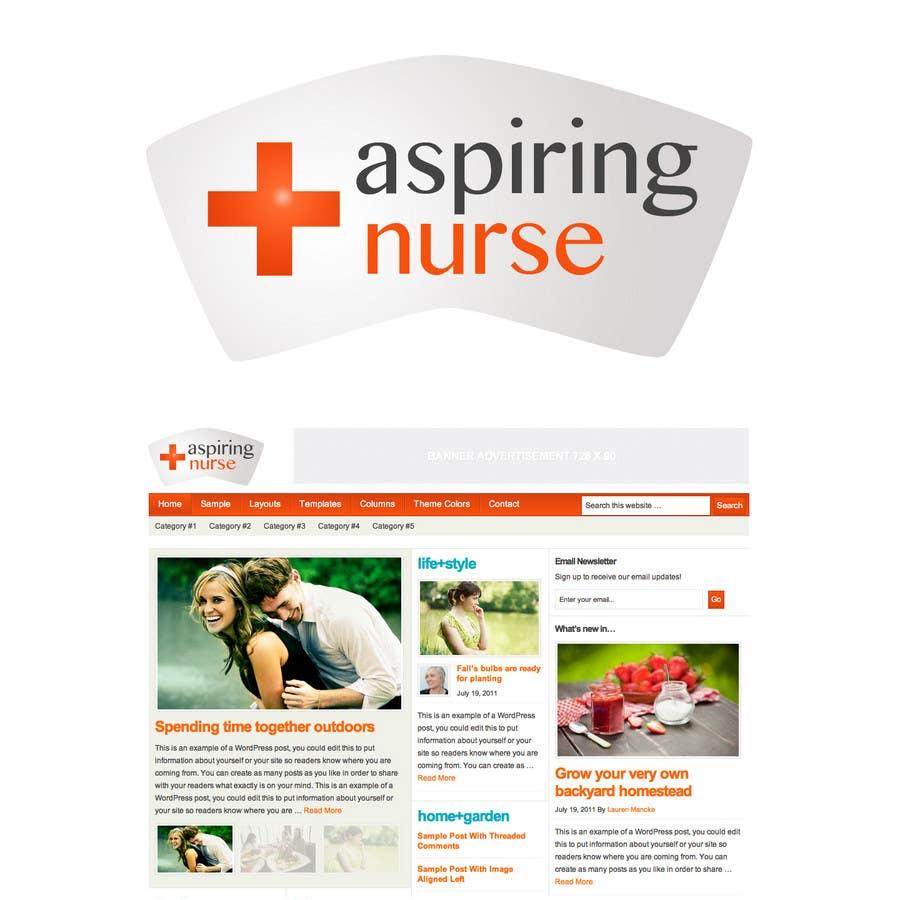 Kilpailutyö #                                        50                                      kilpailussa                                         Logo design for aspiring nurse