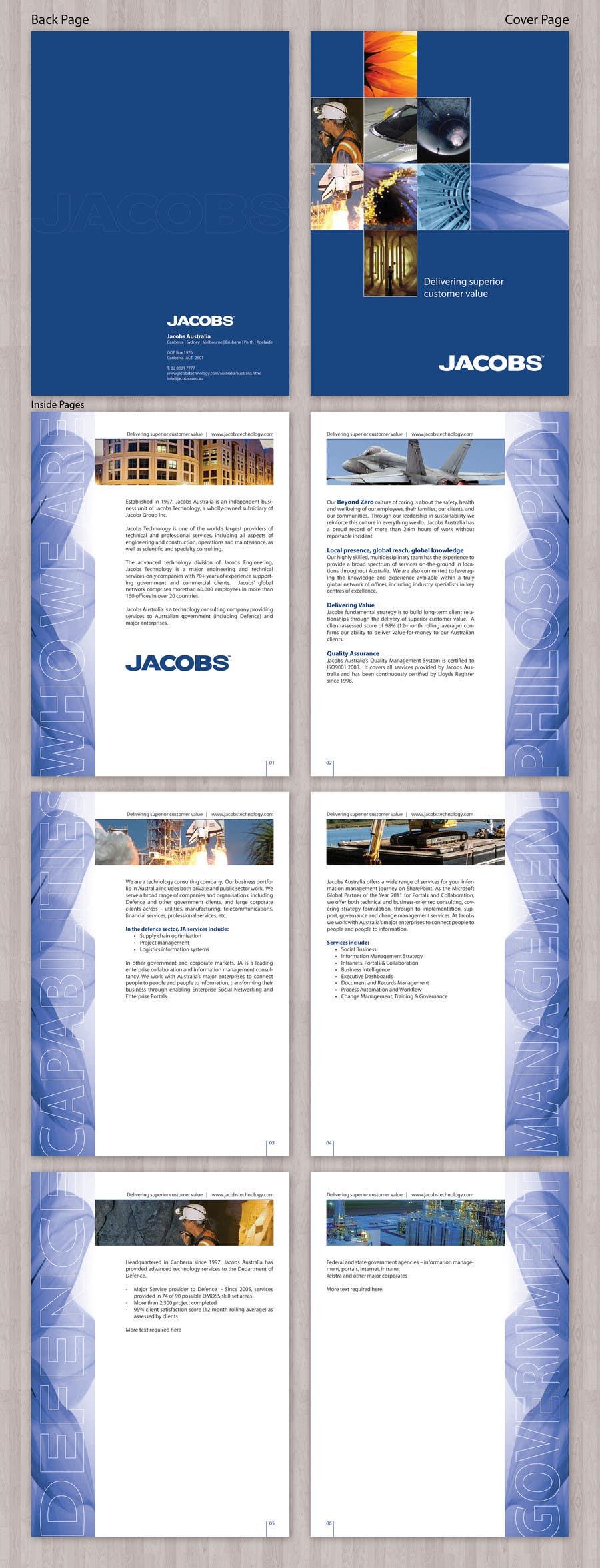 Kilpailutyö #                                        22                                      kilpailussa                                         Brochure Design for Jacobs Australia