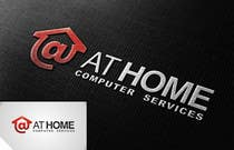 Logo Design for At Home Computer Services için Graphic Design144 No.lu Yarışma Girdisi
