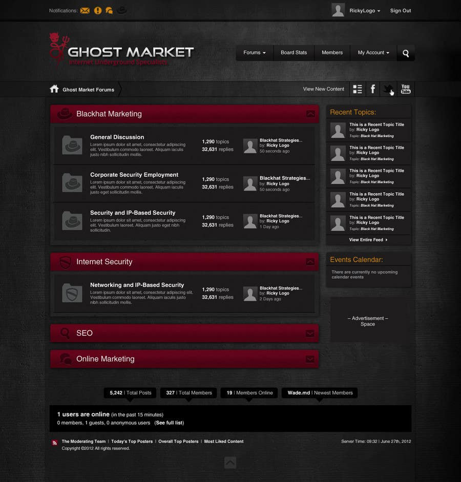 Contest Entry #26 for Forum Board Design for Ghostmarket