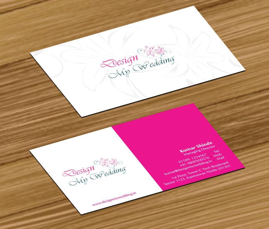 Design A Logo Business Card For A Wedding Planner - Wedding Planner ...