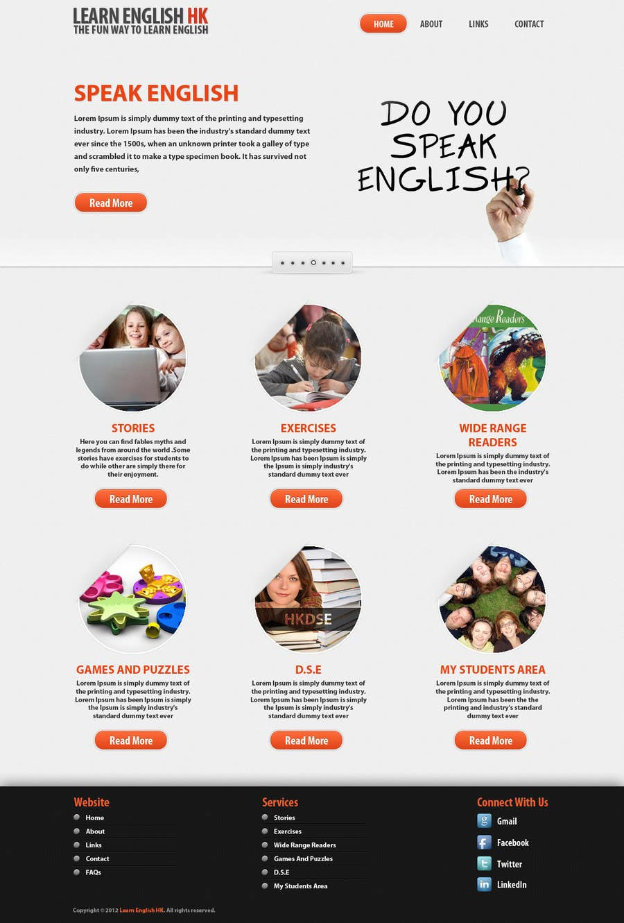 Конкурсная заявка №17 для Wordpress Theme Design for Teaching English