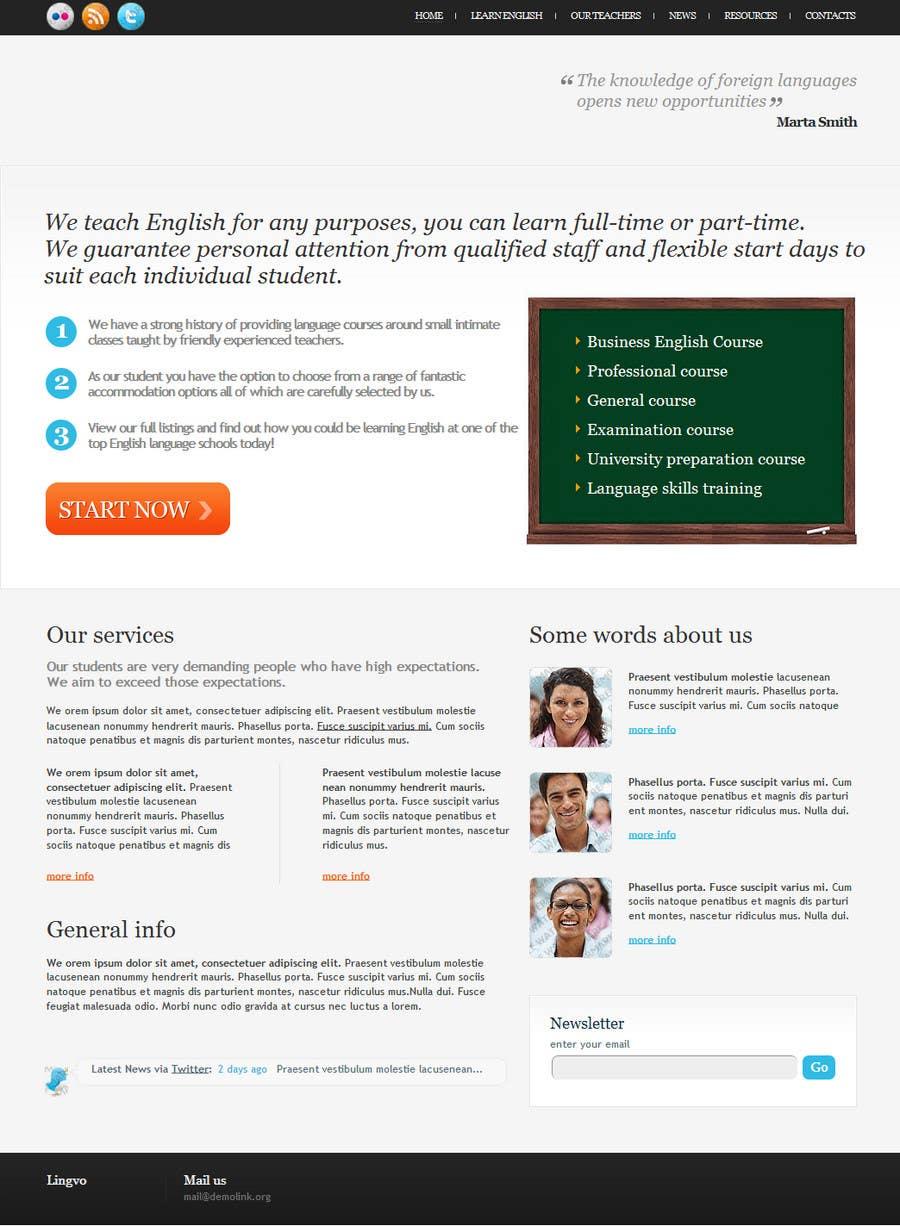 Конкурсная заявка №26 для Wordpress Theme Design for Teaching English