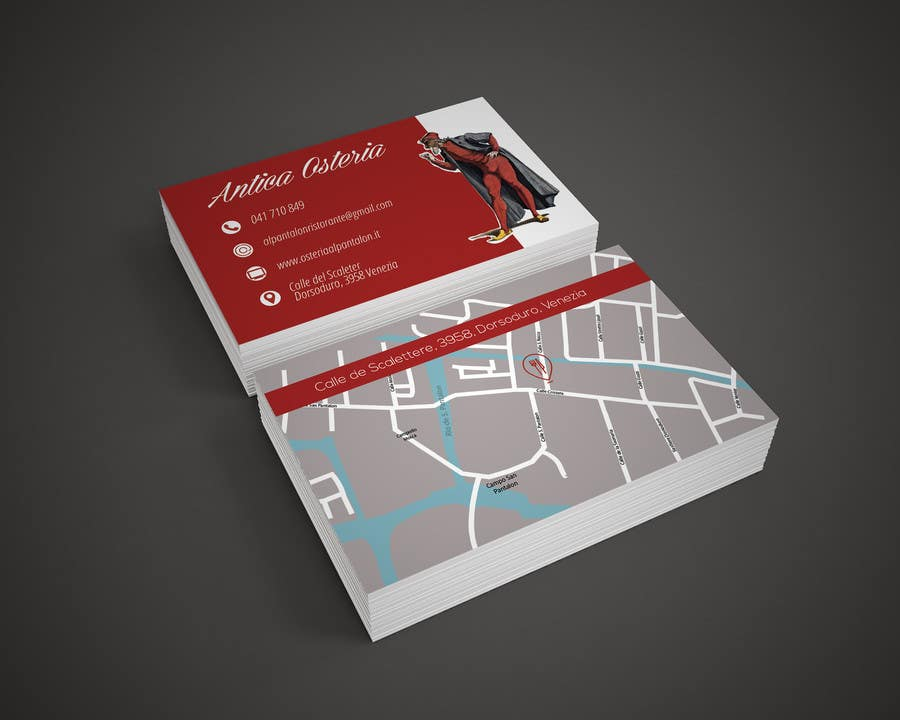 Entry #11 by ssophia for business card with map for restaurant ...