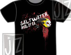 nº 5 pour T-shirt Design for SALTWATER MILITIA par lowendmadness