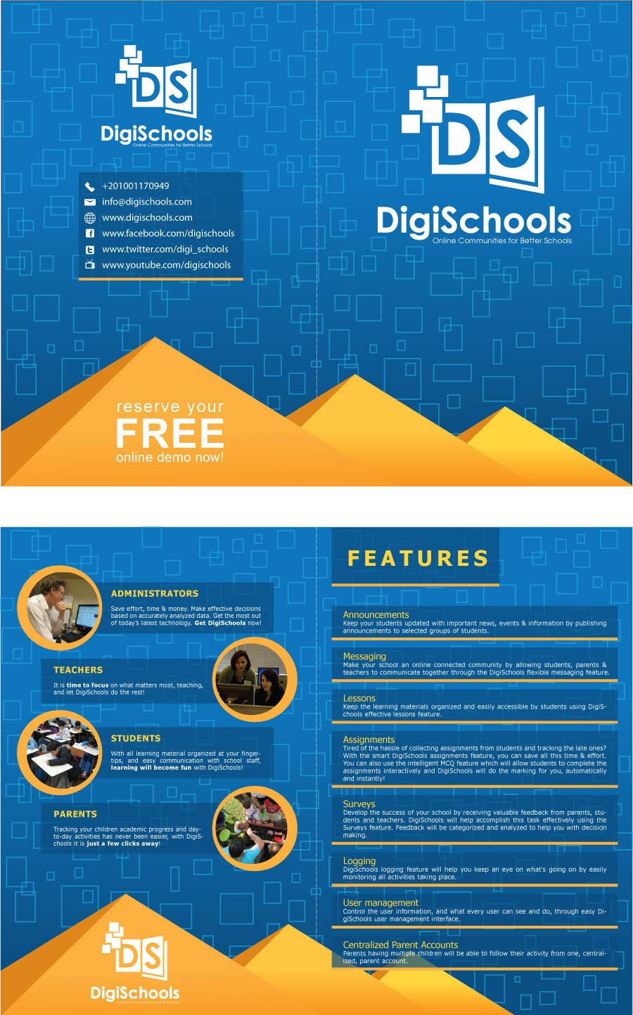 #27 for Brochure Design for DigiSchools by ipanfreelance