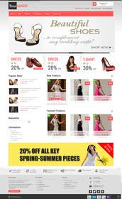#28 for Design a Website Mockup for ecommerce site dresses and shoes by lassoarts