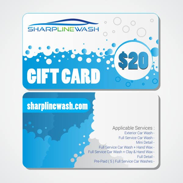 Entry 5 by jayrathod2 for design a gift card for my car wash contest entry 5 for design a gift card for my car wash business colourmoves
