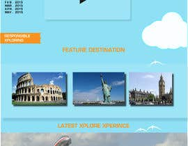 Wizzora tarafından Design a Website Mockup for travel website için no 11