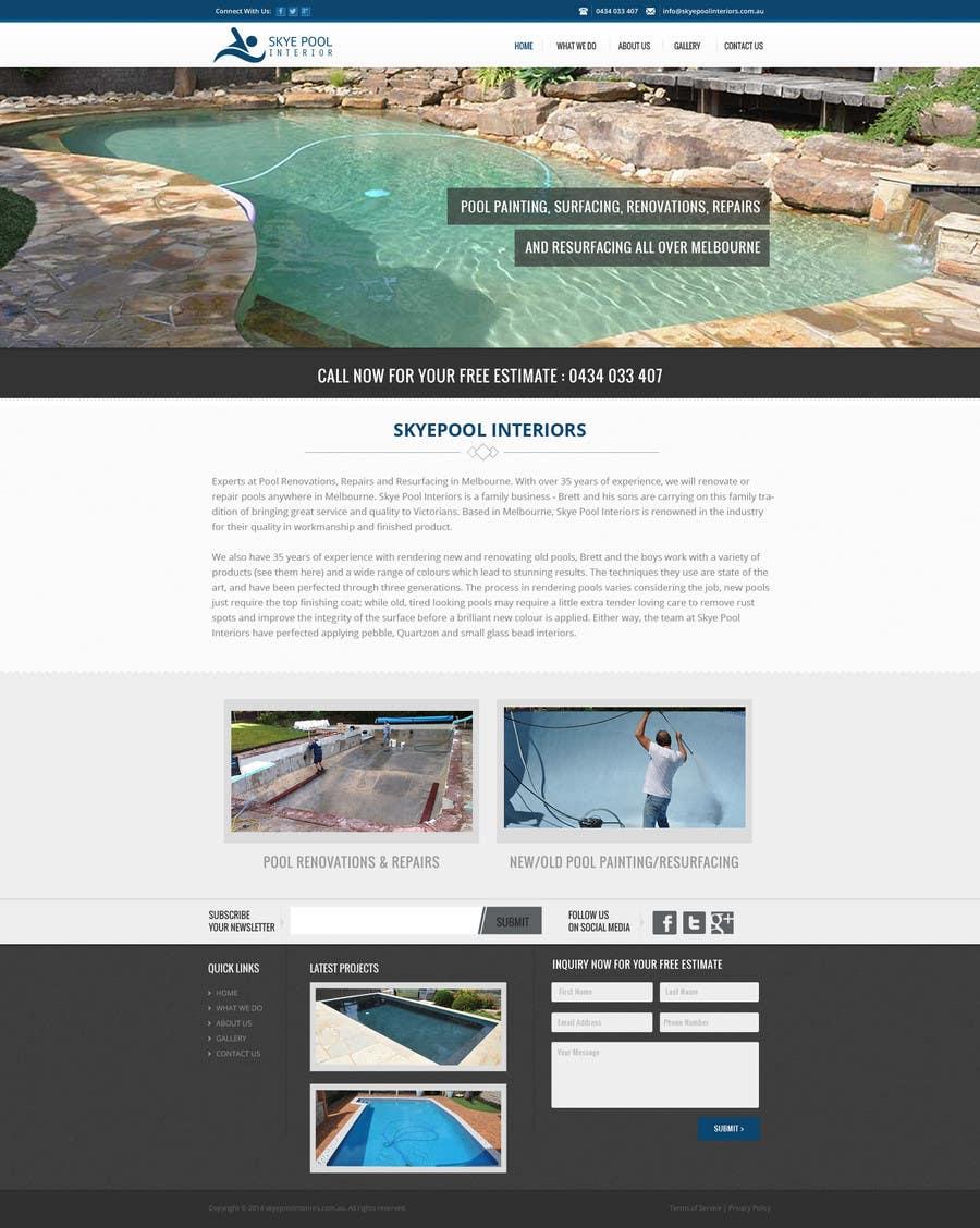 Bài tham dự cuộc thi #                                        54                                      cho                                         Design a Website Mockup/Including Logo for Pool Renovation company