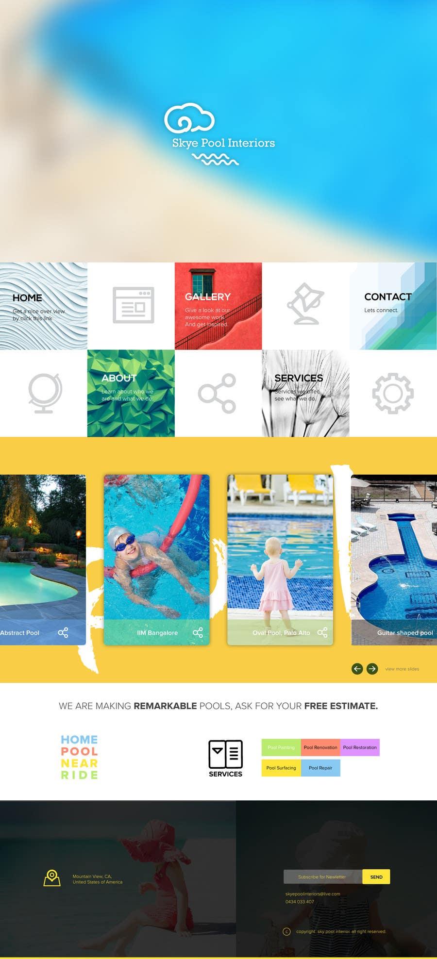 Bài tham dự cuộc thi #                                        21                                      cho                                         Design a Website Mockup/Including Logo for Pool Renovation company