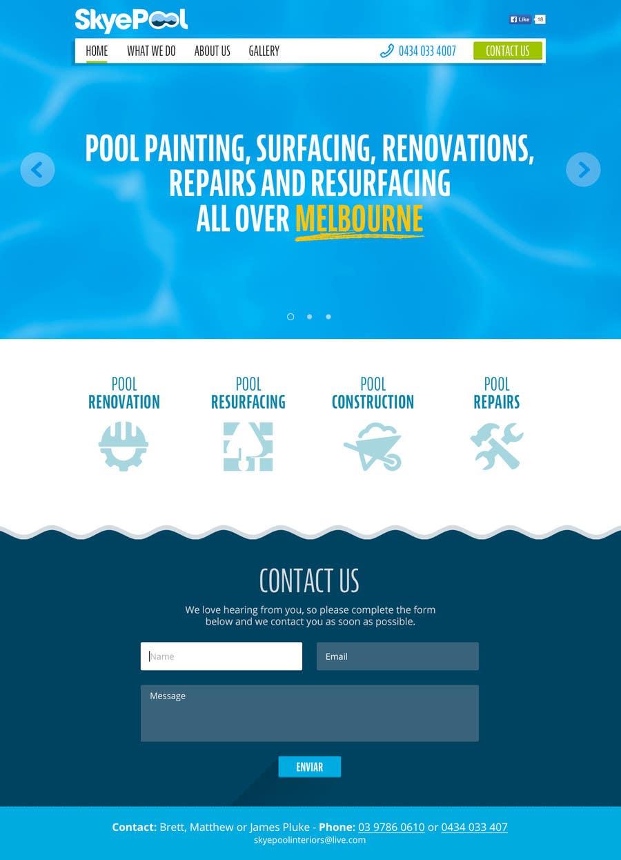 Bài tham dự cuộc thi #                                        57                                      cho                                         Design a Website Mockup/Including Logo for Pool Renovation company