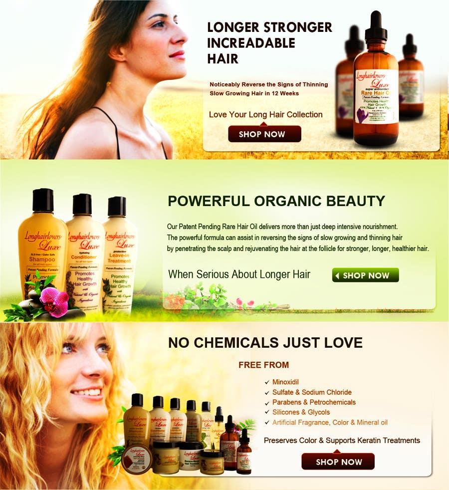 Entry 13 By Babugmunna For Banner Ad Design For 3 Organic Hair Care Website Freelancer