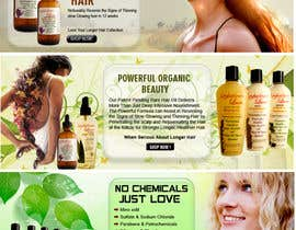 #25 para Banner Ad Design for 3 Organic Hair Care Website por sdinfoways