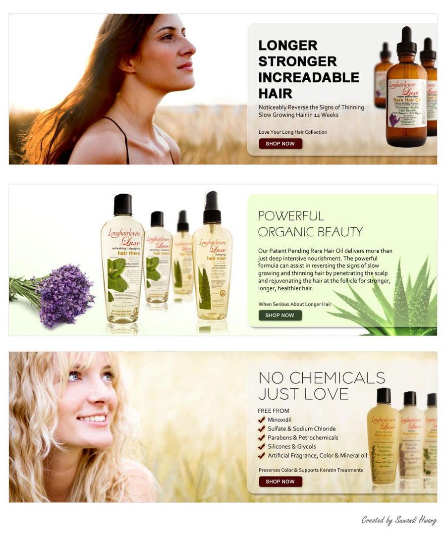 Inscrição nº                                         6                                      do Concurso para                                         Banner Ad Design for 3 Organic Hair Care Website