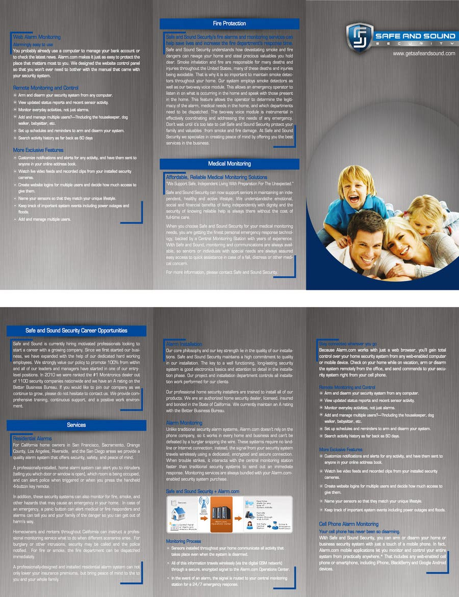 Contest Entry #                                        9                                      for                                         Brochure Design for Safe and Sound Security