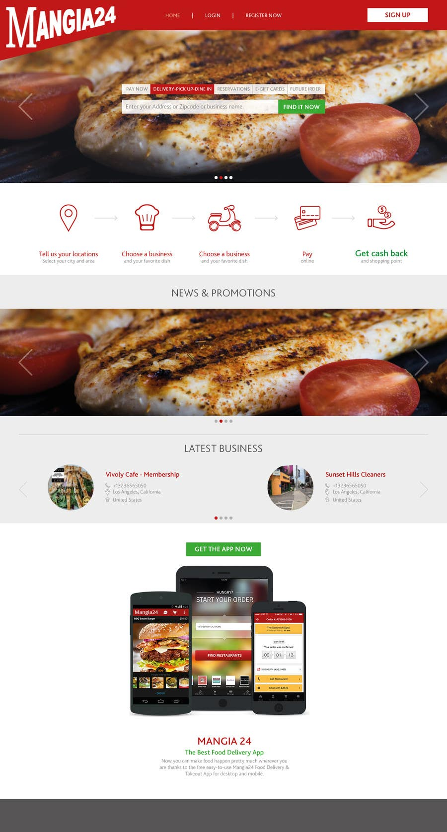Entry #25 by vad1mich for online food ordering for delivery