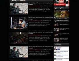 nº 6 pour Design a Website Mockup for ZombDay a Zombie Horror News Website par webidea12