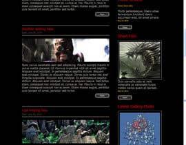 nº 8 pour Design a Website Mockup for ZombDay a Zombie Horror News Website par DenisRolon
