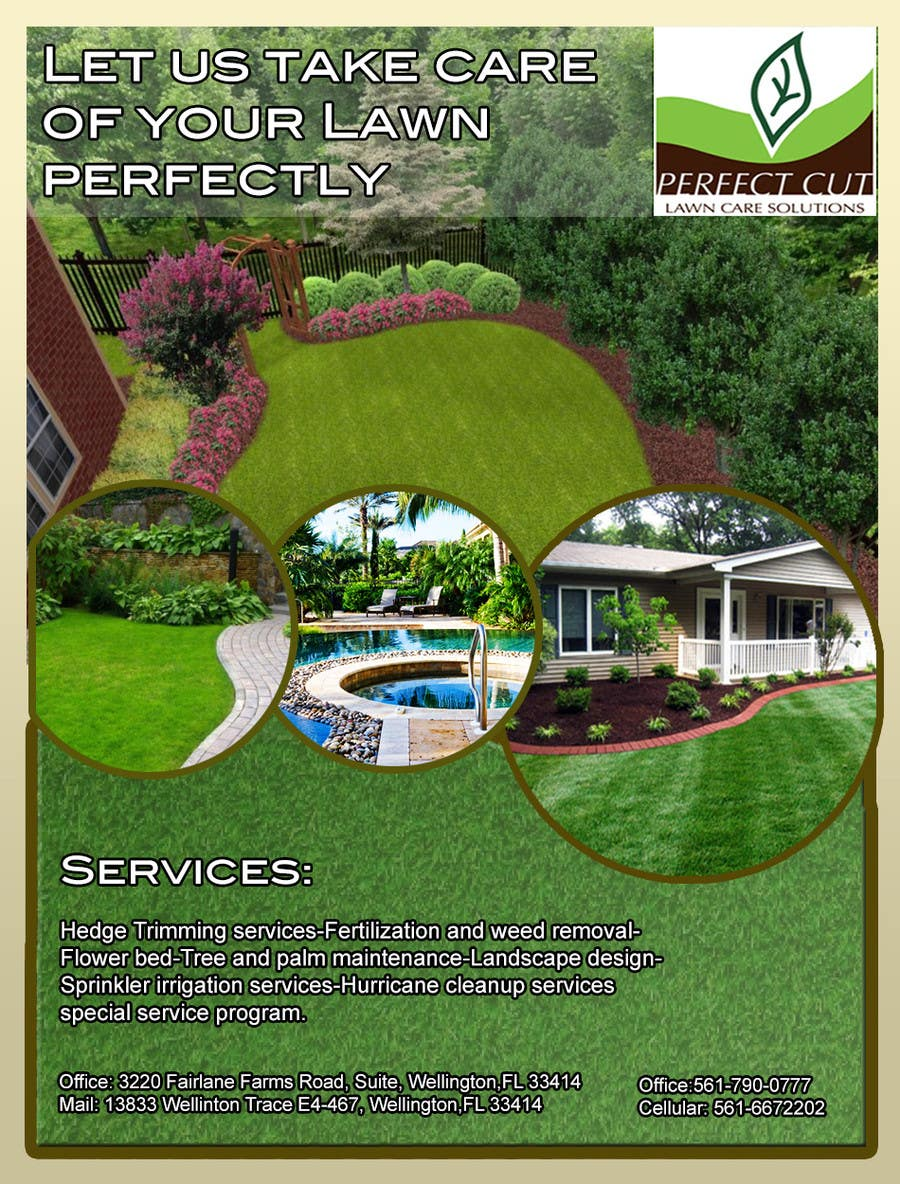 Design an Advertisement for my landscaping company to be in a ...