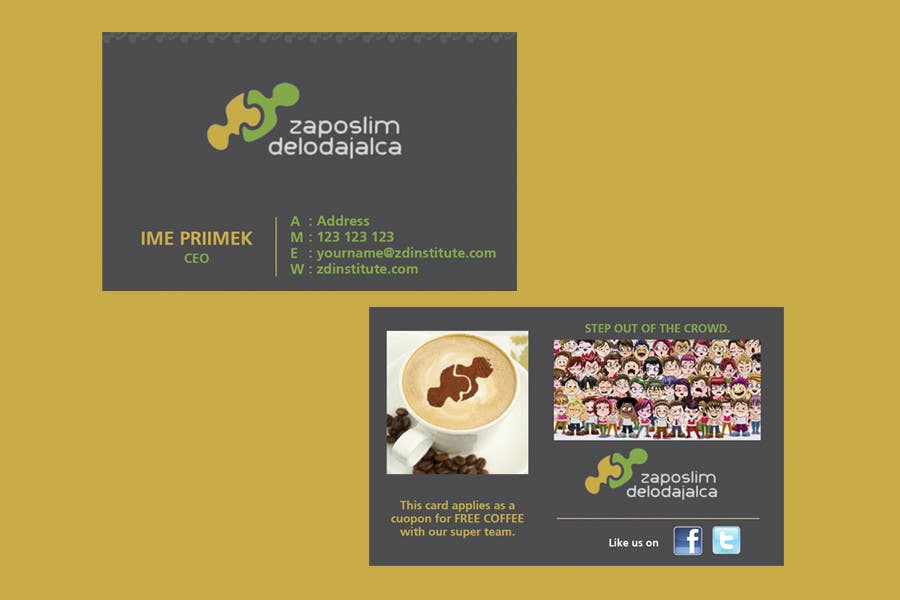 Contest Entry #                                        72                                      for                                         Business Card Design for ZD institute