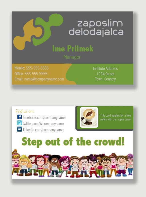 Proposition n°37 du concours Business Card Design for ZD institute