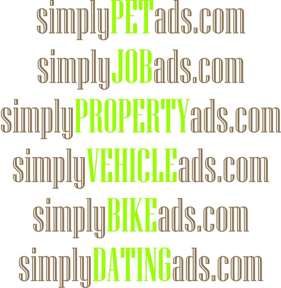 Конкурсная заявка №72 для Logo Design for simplyTHEMEWORDads.com (THEMEWORDS: PET, JOB, PROPERTY, BIKE, VEHICLE, DATING)