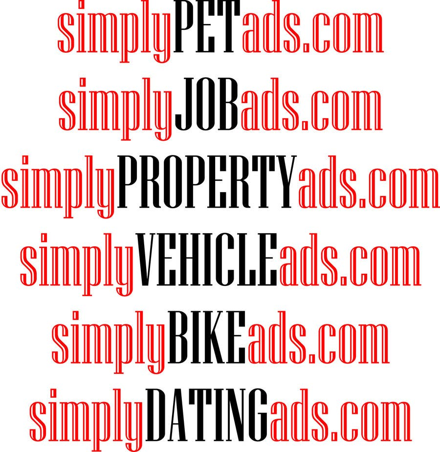 Конкурсная заявка №69 для Logo Design for simplyTHEMEWORDads.com (THEMEWORDS: PET, JOB, PROPERTY, BIKE, VEHICLE, DATING)