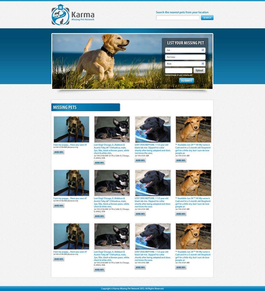 Kilpailutyö #                                        59                                      kilpailussa                                         Website Design for Karma Missing Pet Network