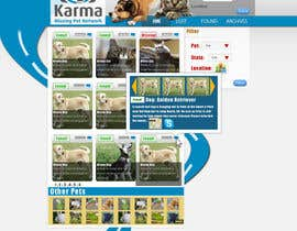 nº 69 pour Website Design for Karma Missing Pet Network par nshotechno