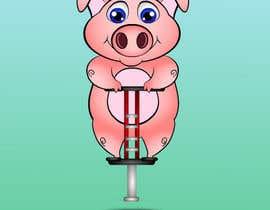 Nro 5 kilpailuun I want a cute pig on a jumping toy käyttäjältä stants