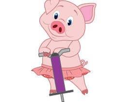 Nro 4 kilpailuun I want a cute pig on a jumping toy käyttäjältä selinka