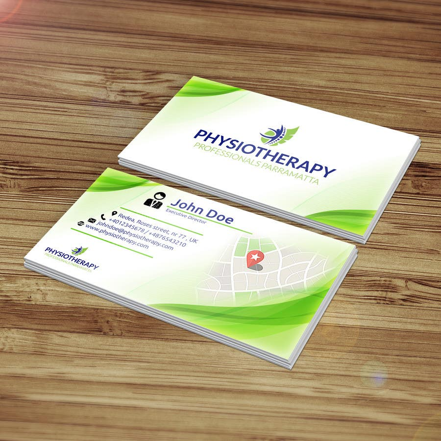 Entry #2 by FebDesigns for design business card for physiotherapy ...