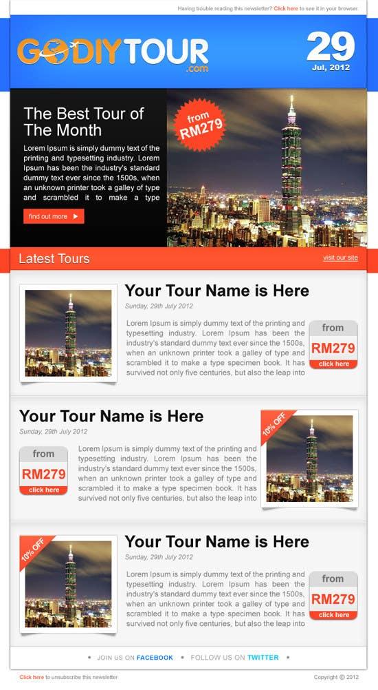 Penyertaan Peraduan #24 untuk Advertisement Design for Godiytour.com