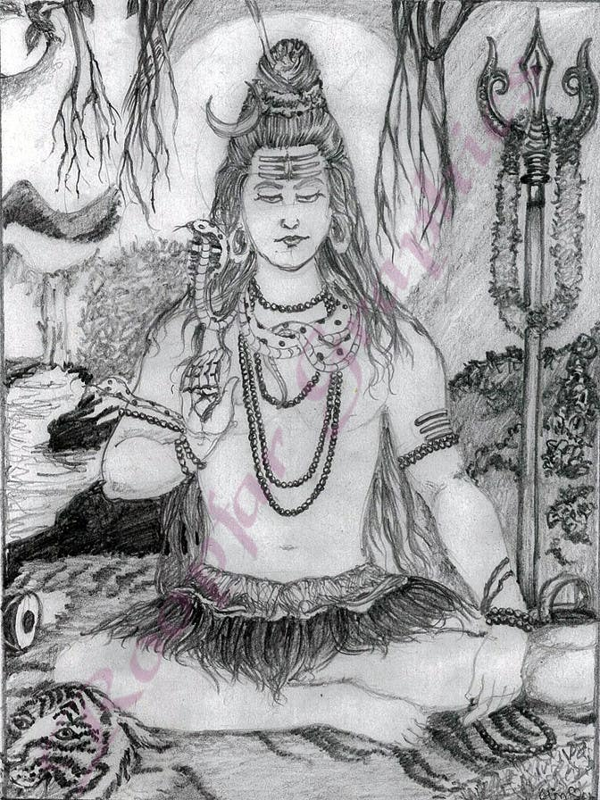 Konkurrenceindlæg #                                        29                                      for                                         Sketches of deities for a new book to be published on Hinduism