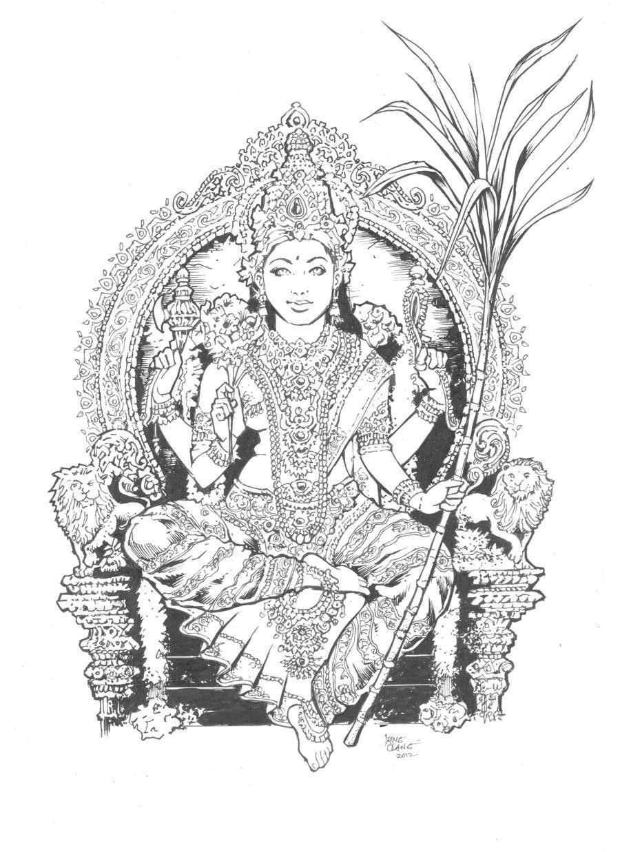 Inscrição nº                                         47                                      do Concurso para                                         Sketches of deities for a new book to be published on Hinduism
