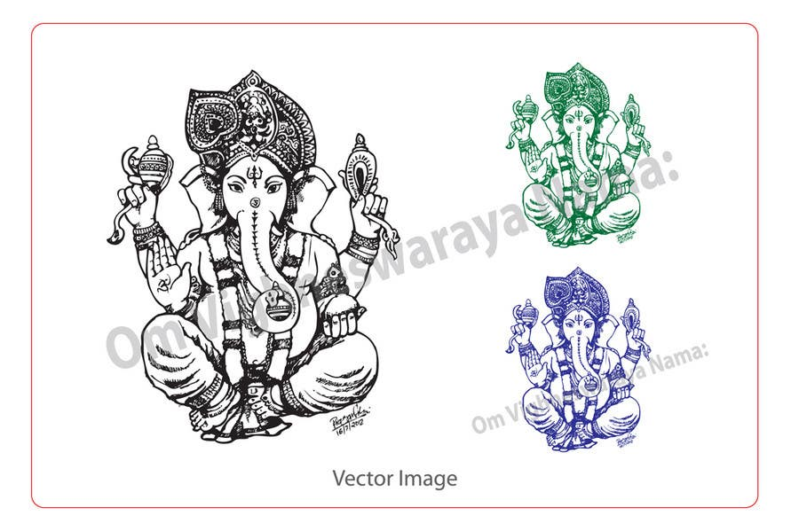 Inscrição nº                                         39                                      do Concurso para                                         Sketches of deities for a new book to be published on Hinduism